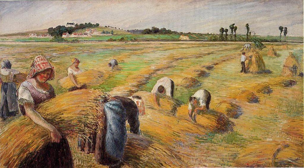 """""""La mietitura"""", 1882."""