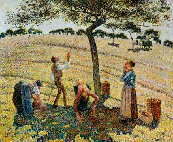 """Raccolta delle mele a Eragny-Sur-Epte"", 1888. Dallas Museum of Art."