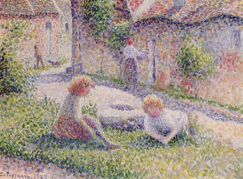 """""""Bambini in una fattoria"""", 1887."""