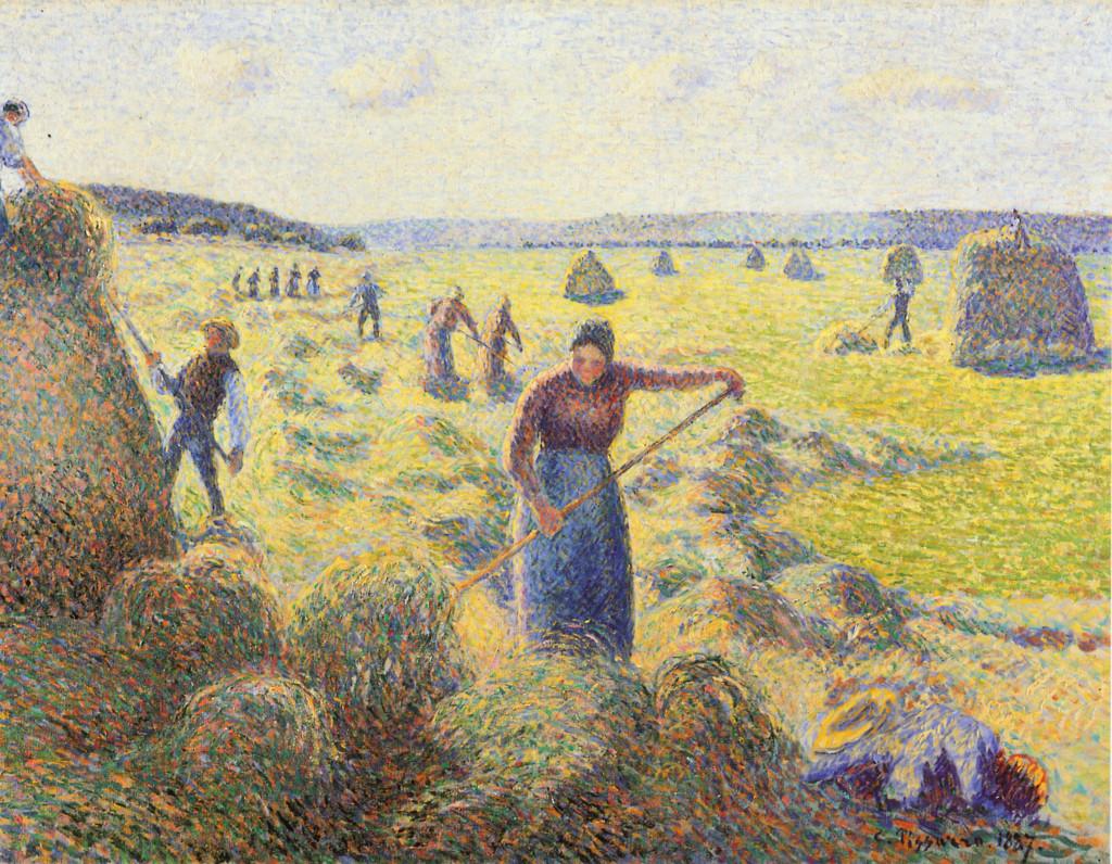 """""""La raccolta del fieno"""", 1887."""