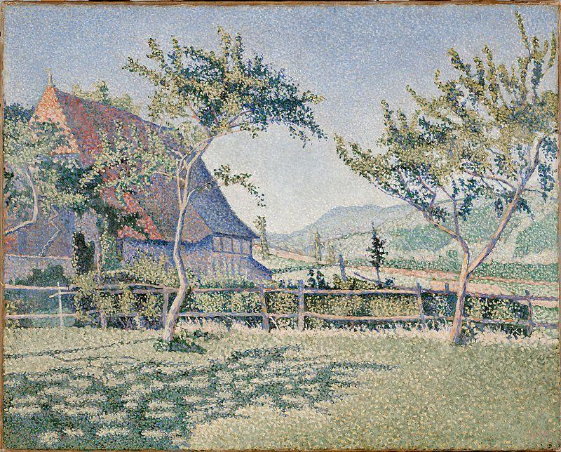 """""""Comblat le Chateau. Le Pré"""". 1886, Dallas Museum of Art."""