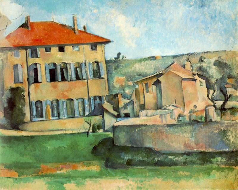 """""""Casa e fattoria nella masseria Bouffan"""", 1885-1887)."""