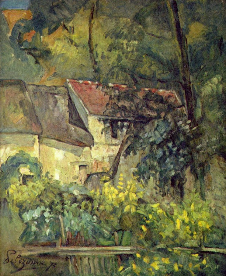 """La casa di père Lacroix a Auvers"", 1873. Washington National Gallery."
