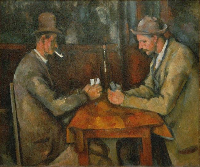 """""""I giocatori di carte"""", 1893-1896. Musée d'Orsay."""