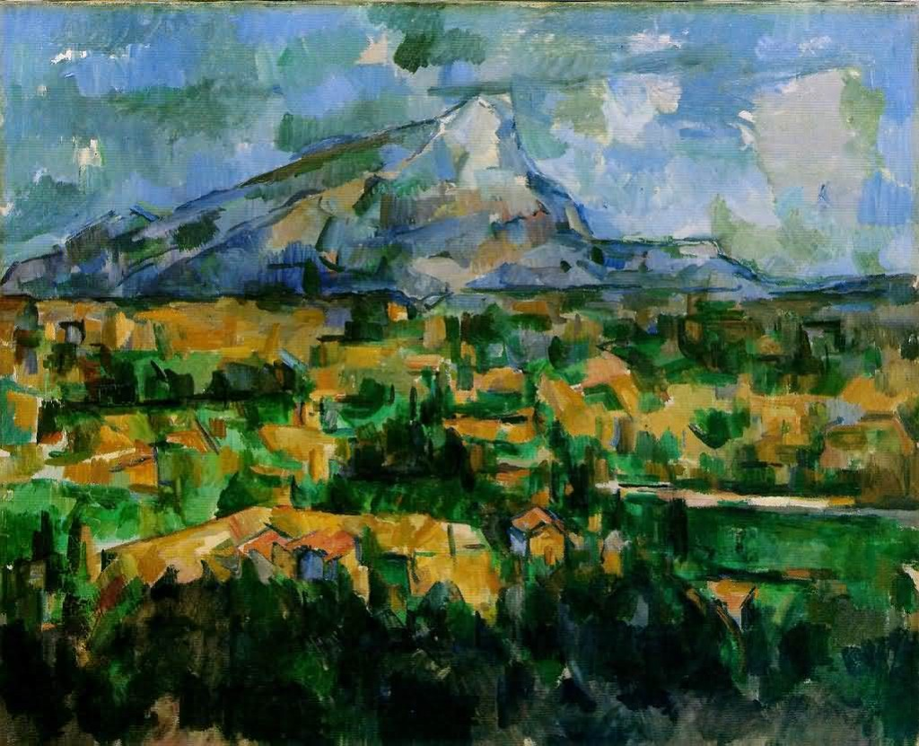 """La montagna Sainte-Victoire vista dai Lauves"", 1902-1904. The Philadelphia Museum of Art."