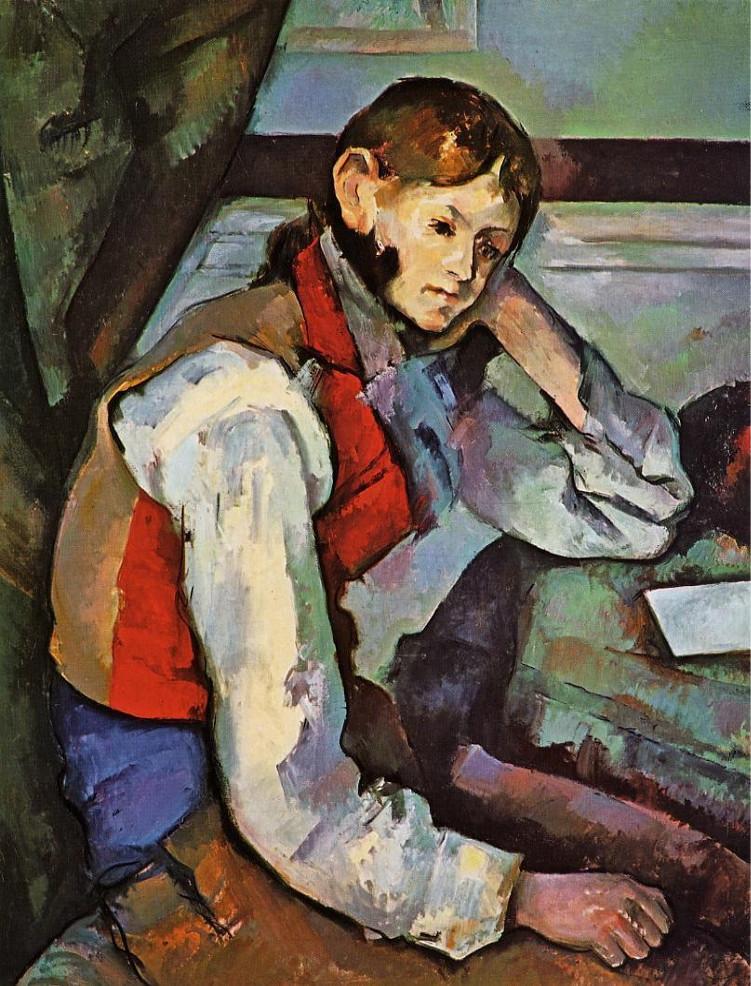 """""""Il ragazzo con il panciotto rosso"""", 1888-1890. Fondazione Bührle di Zurigo."""