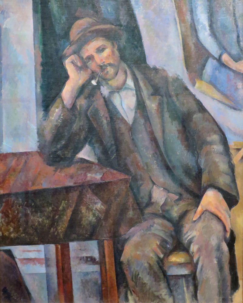"""""""Uomo con pipa appoggiato a un tavolo"""", 1890-1892. Museo Puškin di Mosca."""