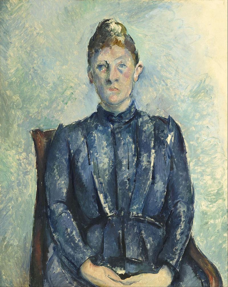 """""""Ritratto di Madame Cézanne"""", 1890. Musée de l'Orangerie di Parigi."""