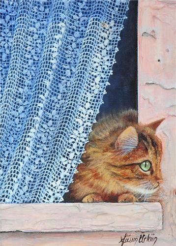 Dovrei prendere esempio dal mio gatto: lui vede tutto, ma non si lascia sconvolgere da niente; potrebbe sembrare indifferenza, ma credo sia solo immensa saggezza. Già, perché un gatto sta bene da solo, è pienamente soddisfatto di sé, eppure ama profondamente le carezze, ma soprattutto non ha paura di chiederle. E con gran classe sa sfruttare ogni angolo vuoto per ricavarne comodità. Ė l'equilibrio perfetto tra curiosità e tranquillità, tra solitudine e compagnia, amore ed egoismo: il suo è semplice egoismo mascherato da amore… o forse è puro amore mascherato da egoismo. _ Ossimorσ Tσssicσ _ Füsun Ürkün Art.