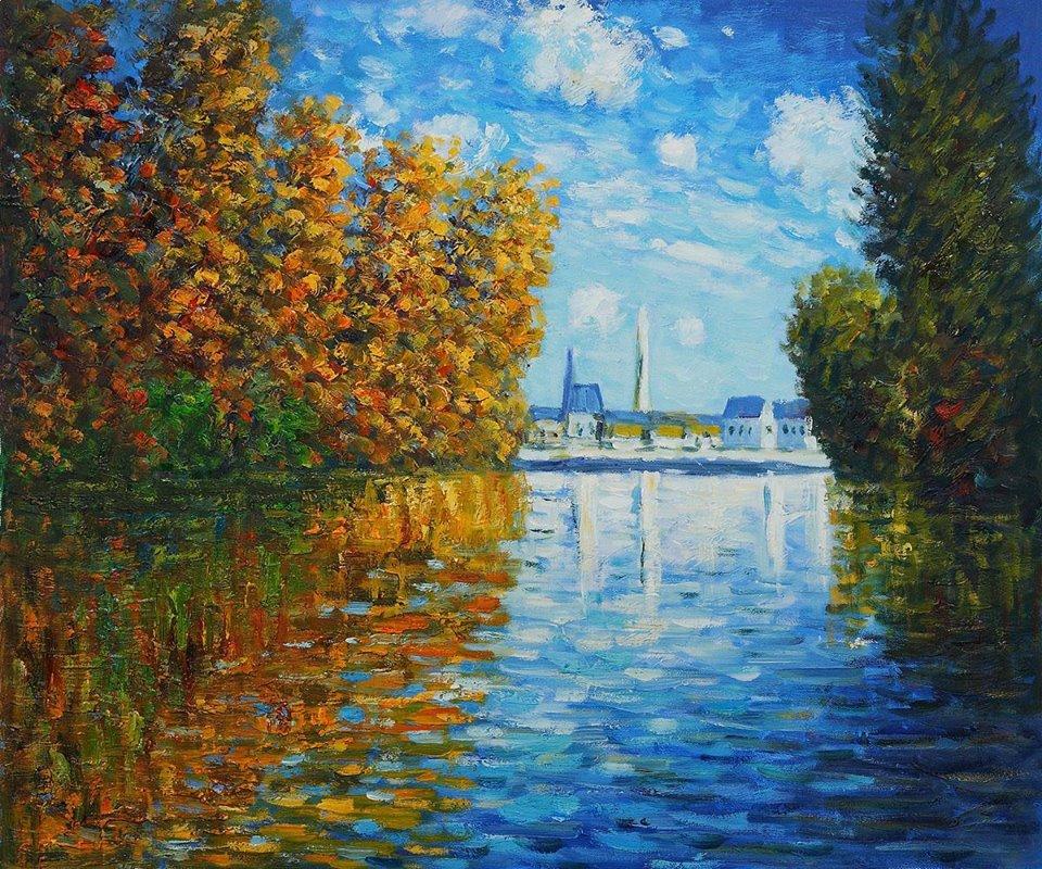 """Il tempo è un fiume, che trascina via i ricordi leggeri, ma non ha la forza di spostare quelli pesanti. È giudice del futile e dell'importante. _ Alberto Jess _ """"Autunno ad Argentuille"""", Claude Monet."""