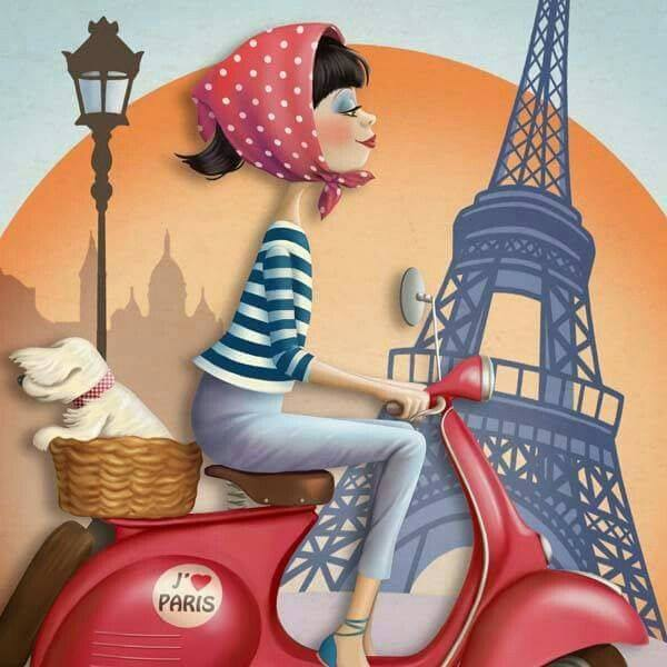 La gioia di vivere è il miglior cosmetico per una donna. _ Rosalind Russell _ Nina de San Illustration.