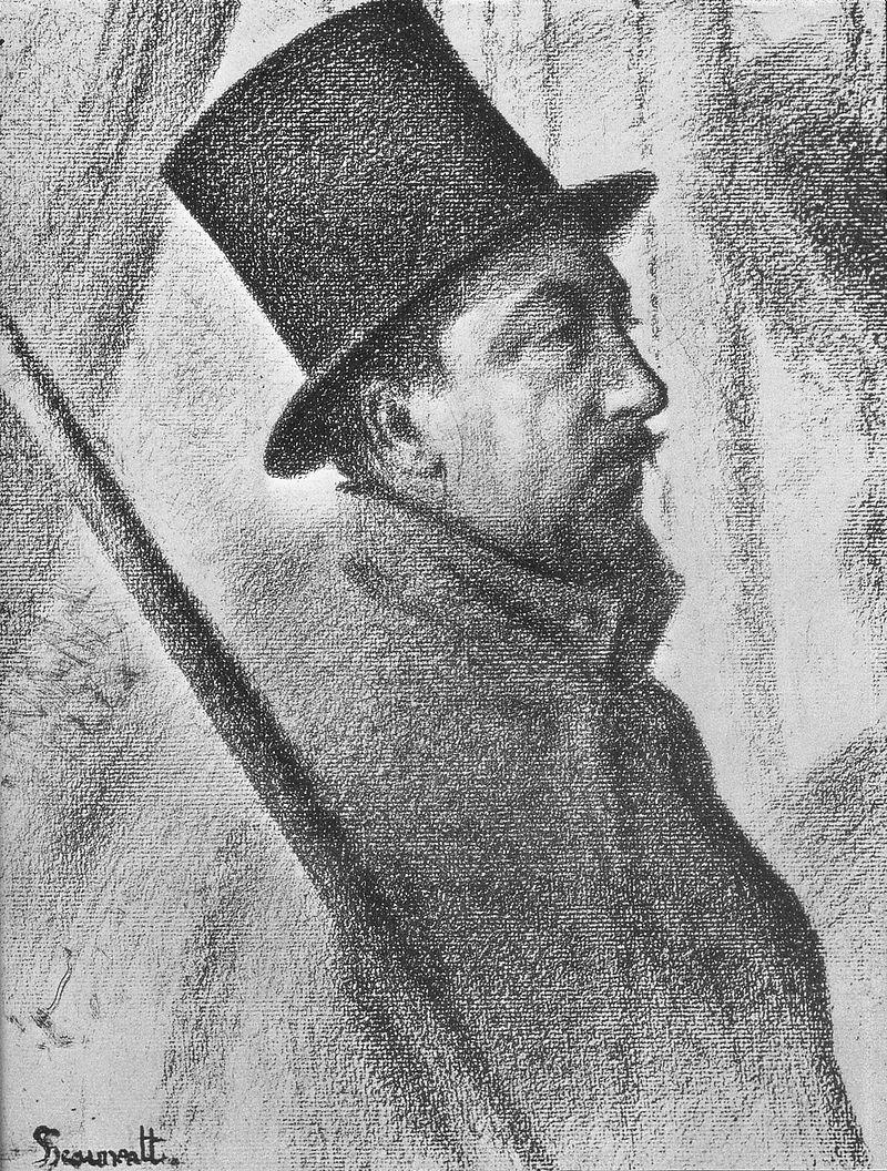 George Seurat, Ritratto di Paul Signac (1890), collezione privata.