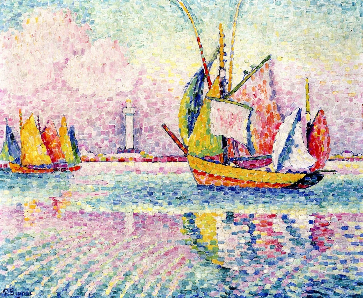 """""""Boats at Anchor in Locmalo"""", 1922. Collezione privata."""