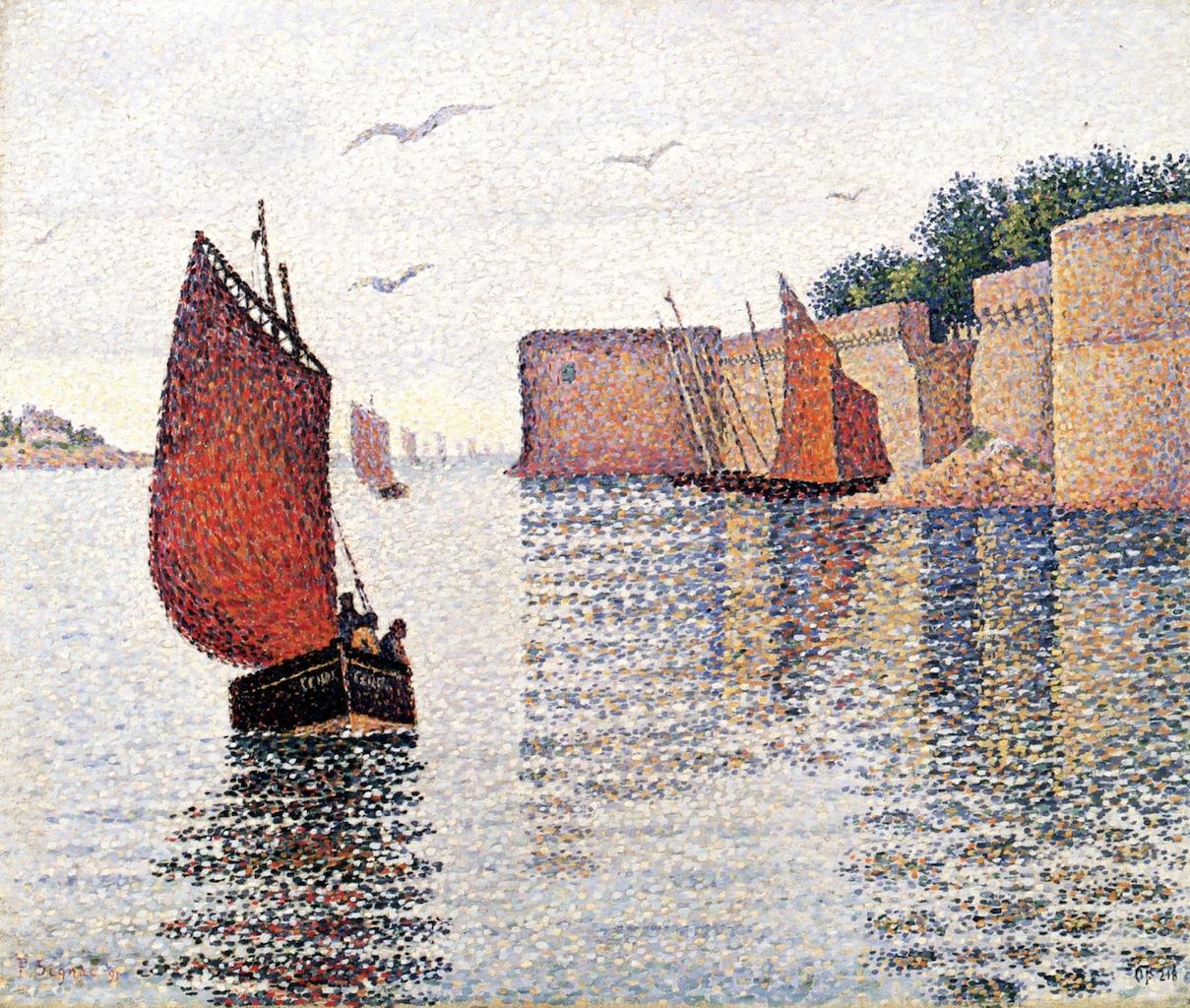"""""""Concarneau; Sardine Boat and the Old City"""", 1891. Collezione privata."""