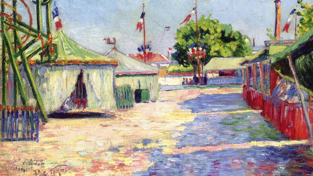 """""""The Festival at Asnières"""", 1884. Collezione privata."""