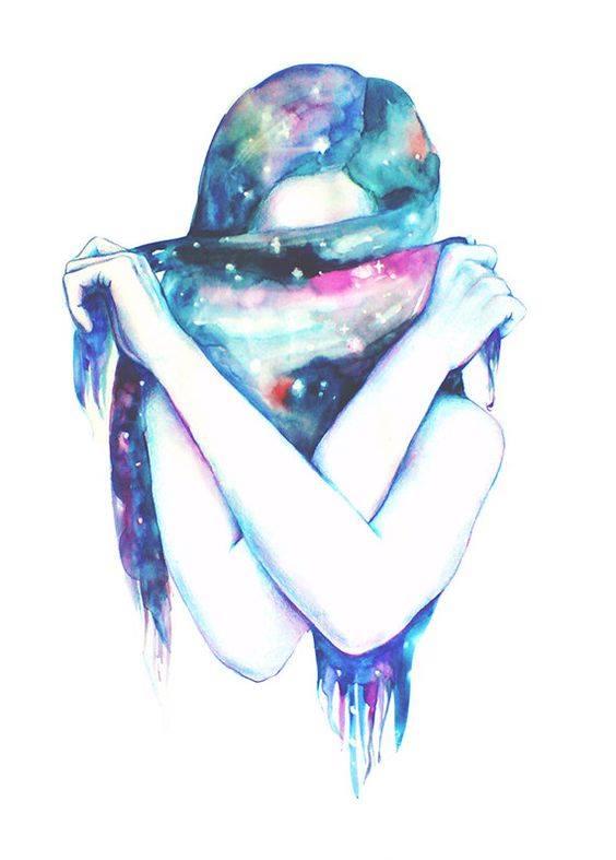 Un giorno mi perdonerò. Del male che mi sono fatta. Del male che mi sono fatta fare. E mi stringerò così forte, da non lasciarmi più. _ Emily Dickinson _ Oxana Basil Art.
