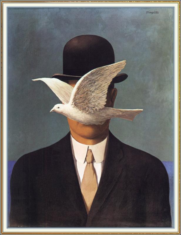 """""""Uomo con la bombetta"""", 1964."""