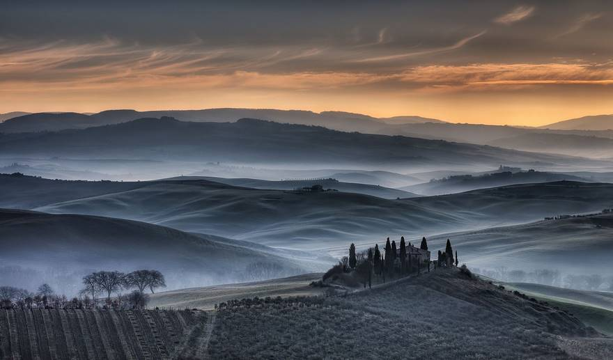 """Tuscan Golden Sunrise"" di Michele Macinai."