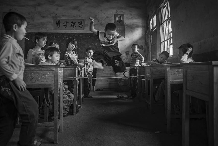 """Gaming During Recess"" di Yue Zhang."