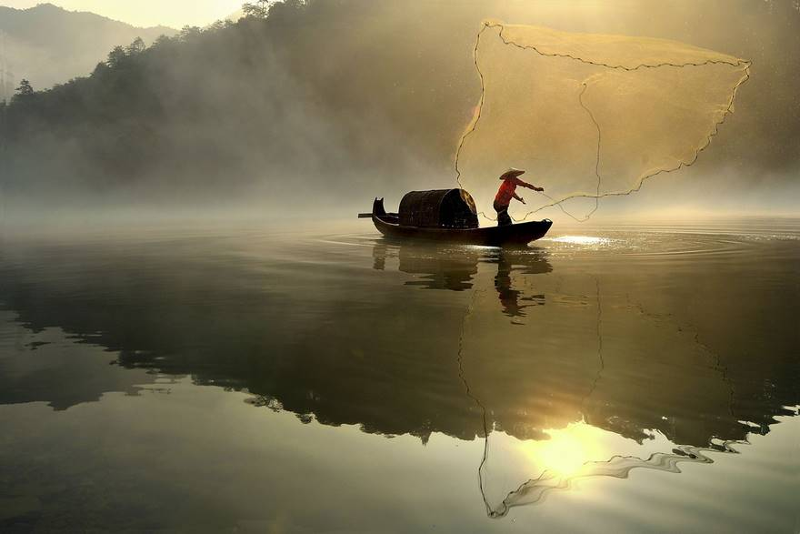 """Morning Catch"" di Xiaolong Guo."