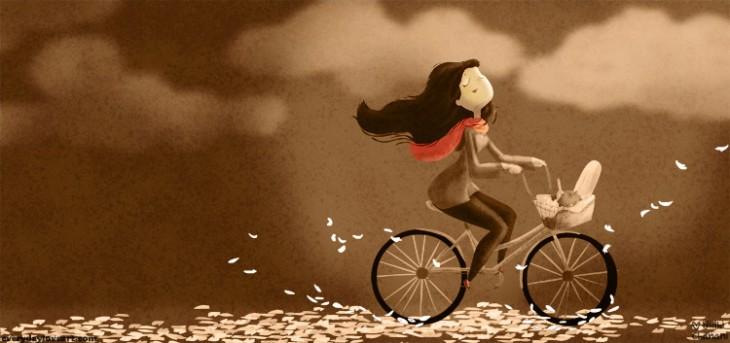 Una donna arrabbiata ancora la trattieni. Una donna stanca non si fa più trovare. (cit.) Nidhi Chanani Illustration.