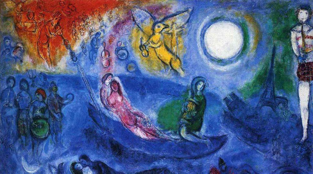 """""""Il concerto"""", Marc Chagall."""