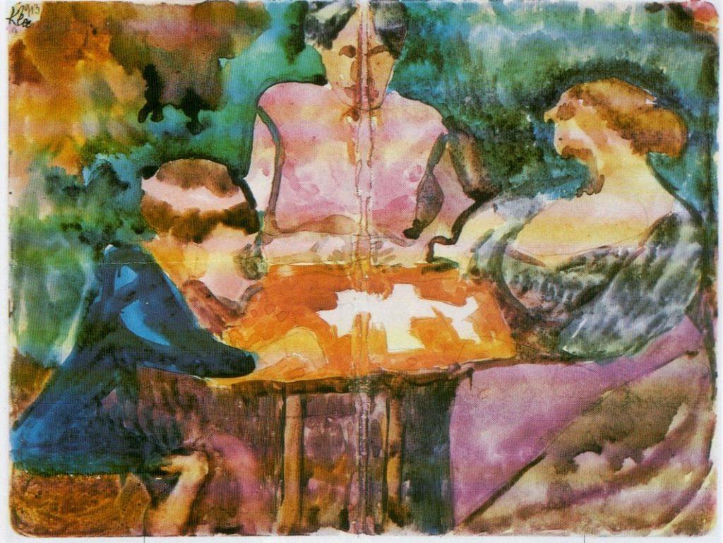 Gioco a carte in giardino (1913).