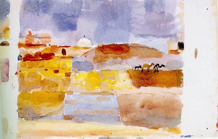 """""""Davanti alle porte di Kairouan"""", 1914. Berna, Kunstmuseum."""