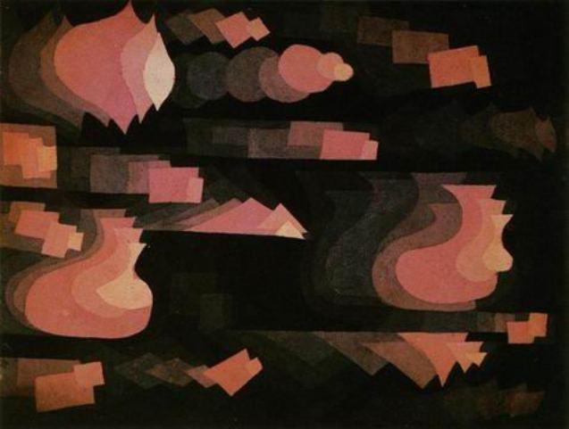 """Fuga in rosso"", 1921."