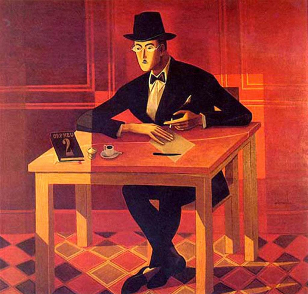 """Almada Negreiros, """"Ritratto di Fernando Pessoa"""", 1954."""
